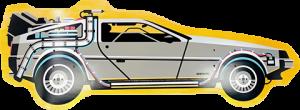 Back to The Future Part I DeLorean Shaped Skateboard Deck