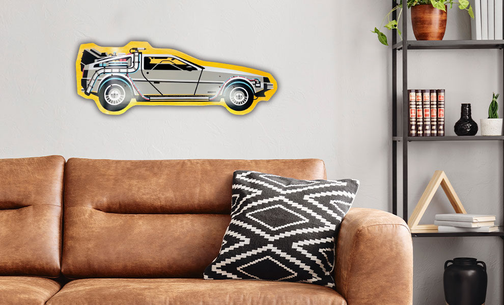 Gallery Feature Image of Back to The Future Part I DeLorean Shaped Skateboard Deck - Click to open image gallery