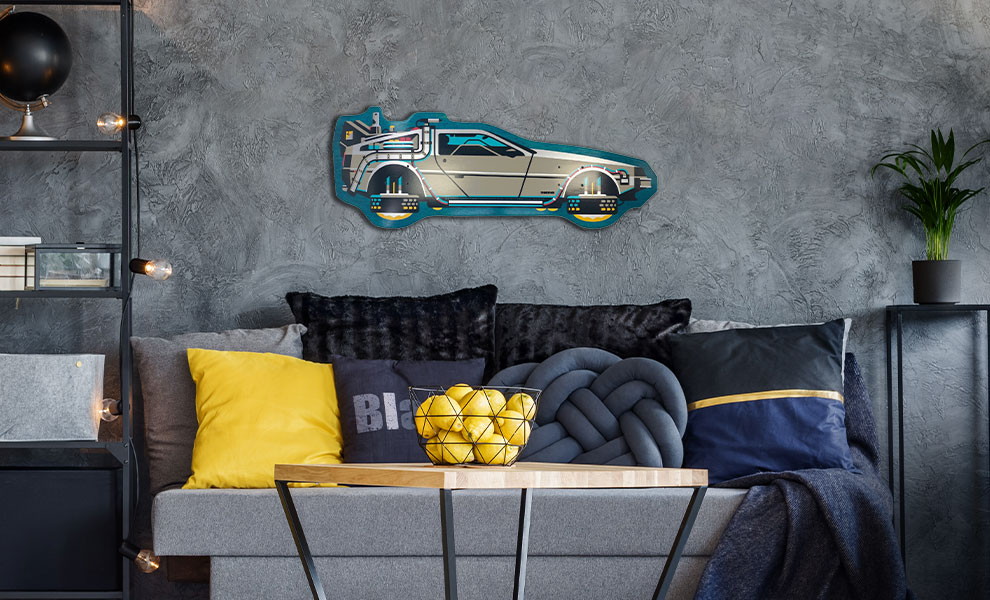 Gallery Feature Image of Back to The Future PART II DeLorean Shaped Skateboard Deck - Click to open image gallery