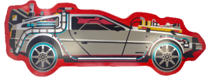 Back to The Future PART III DeLorean Shaped Skateboard Deck