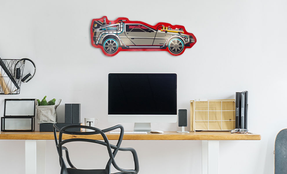 Gallery Feature Image of Back to The Future PART III DeLorean Shaped Skateboard Deck - Click to open image gallery