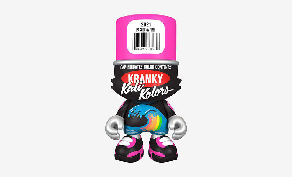 """Gallery Feature Image of """"Pasadena Pink"""" SuperKranky Designer Collectible Toy - Click to open image gallery"""