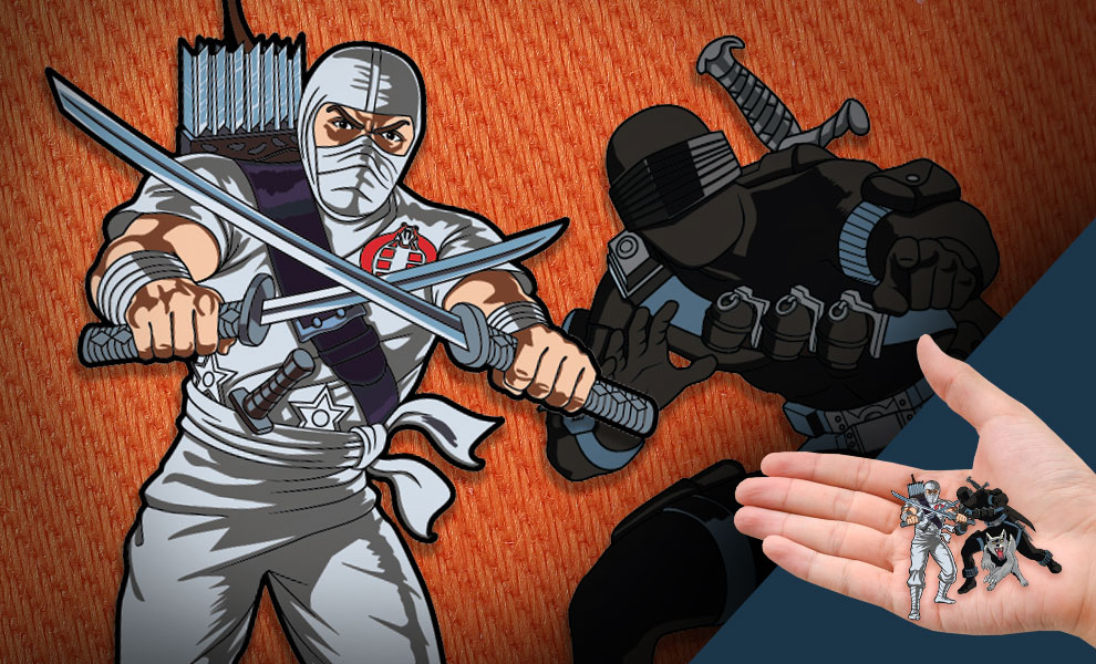 Gallery Feature Image of Snake Eyes x Storm Shadow Pin Set Collectible Pin - Click to open image gallery