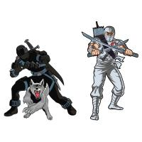 Gallery Image of Snake Eyes x Storm Shadow Pin Set Collectible Pin