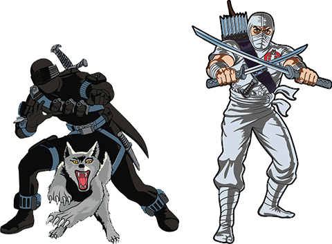 Icon Heroes Snake Eyes x Storm Shadow Pin Set Collectible Pin
