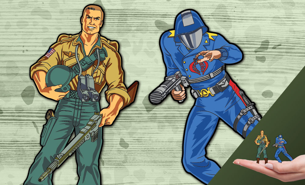 Gallery Feature Image of Duke x Cobra Commander Pin Set Collectible Pin - Click to open image gallery