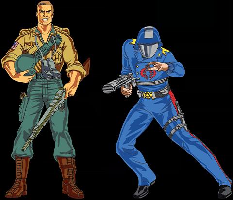 Icon Heroes Duke x Cobra Commander Pin Set Collectible Pin
