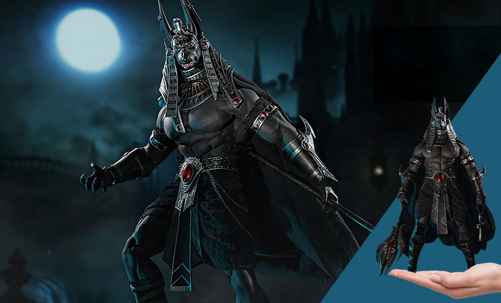 Gallery Feature Image of Anubis Guardian of The Underworld (Silver) Sixth Scale Figure - Click to open image gallery