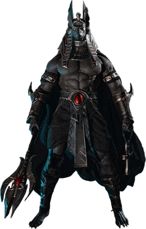 Anubis Guardian of The Underworld (Silver) Sixth Scale Figure