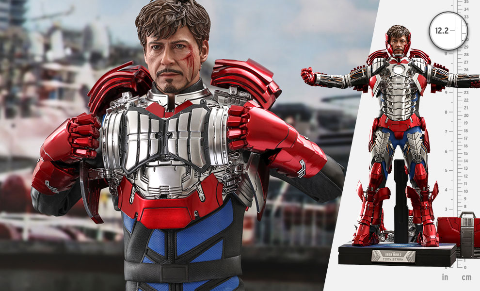 Gallery Feature Image of Tony Stark (Mark V Suit Up Version) Deluxe Sixth Scale Figure - Click to open image gallery