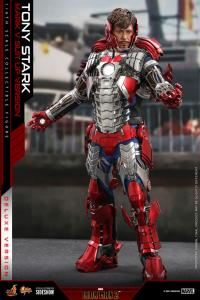 Gallery Image of Tony Stark (Mark V Suit Up Version) Deluxe Sixth Scale Figure