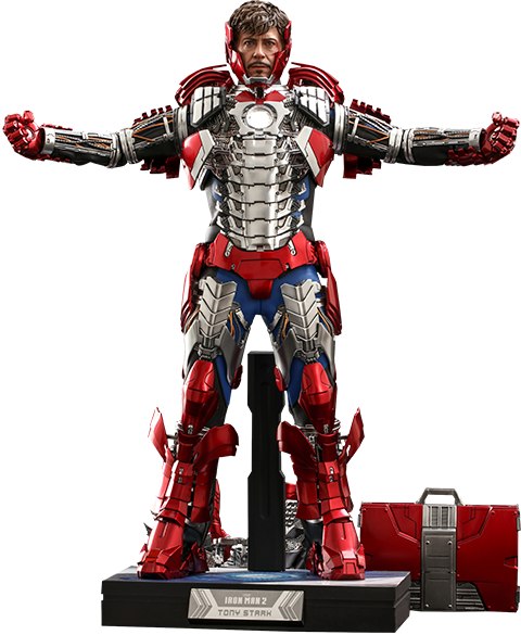Hot Toys Tony Stark (Mark V Suit Up Version) Deluxe Sixth Scale Figure