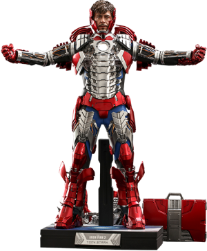 Tony Stark (Mark V Suit Up Version) Deluxe Sixth Scale Figure