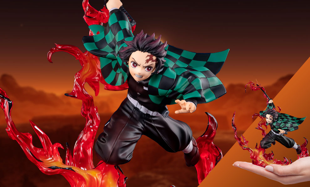 Gallery Feature Image of Tanjiro Kamado Total Concentration Breathing Collectible Figure - Click to open image gallery