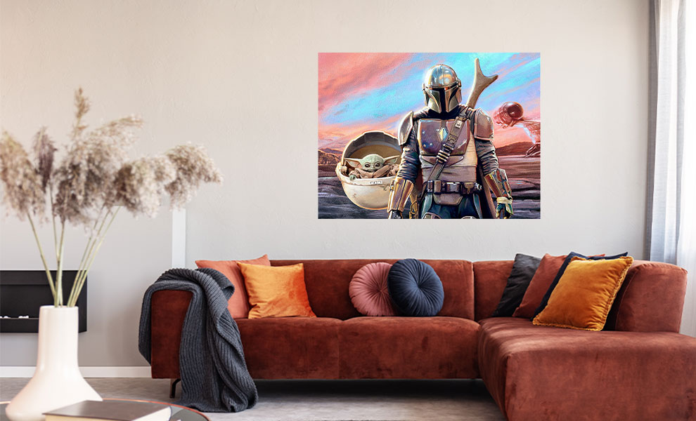 Gallery Feature Image of Mandalorian and The Child Mural Mural - Click to open image gallery
