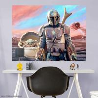 Gallery Image of Mandalorian and The Child Mural Mural