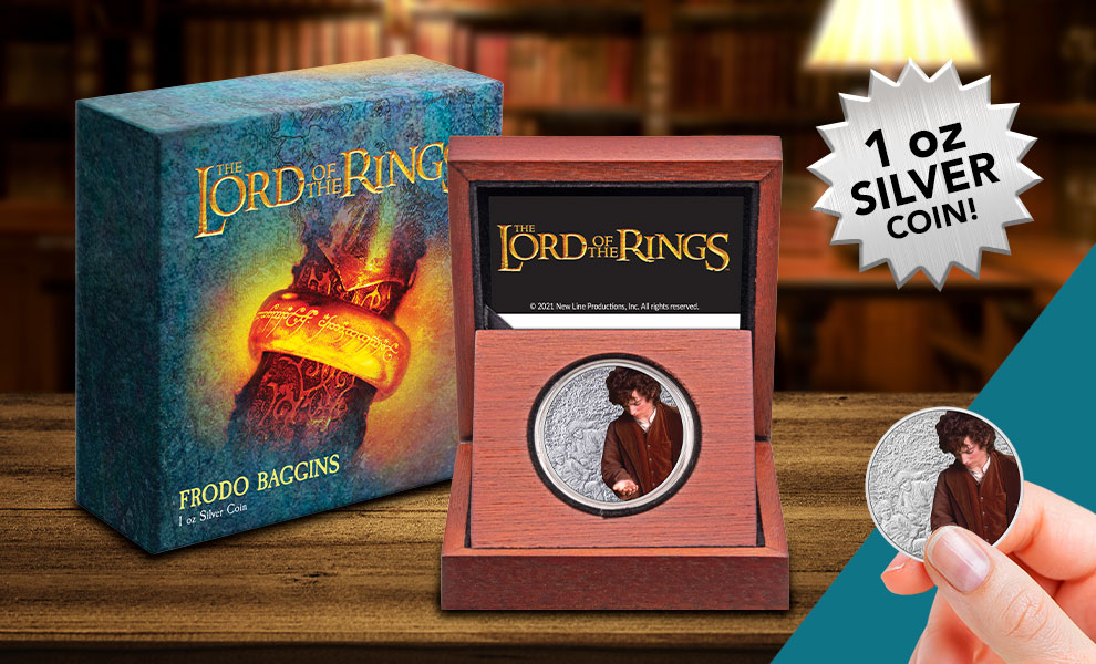 Gallery Feature Image of Frodo Baggins 1oz Silver Coin Silver Collectible - Click to open image gallery