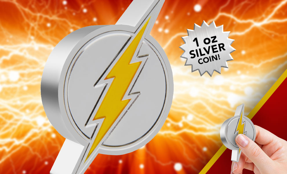 Gallery Feature Image of The Flash Emblem 1oz Silver Coin Silver Collectible - Click to open image gallery