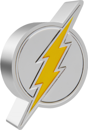 The Flash Emblem 1oz Silver Coin Silver Collectible