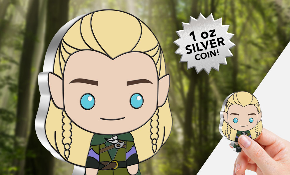 Gallery Feature Image of Legolas 1oz Silver Coin Silver Collectible - Click to open image gallery