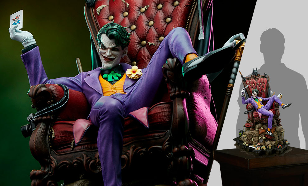 Gallery Feature Image of The Joker (Deluxe) Maquette - Click to open image gallery