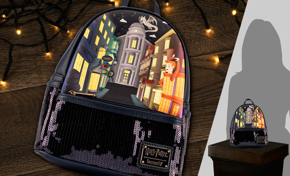 Gallery Feature Image of Diagon Alley Sequin Mini Backpack Apparel - Click to open image gallery