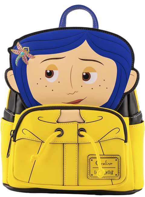 Loungefly Coraline Raincoat Cosplay Mini Backpack Apparel