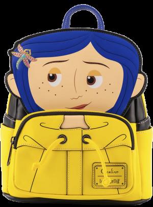 Coraline Raincoat Cosplay Mini Backpack Apparel
