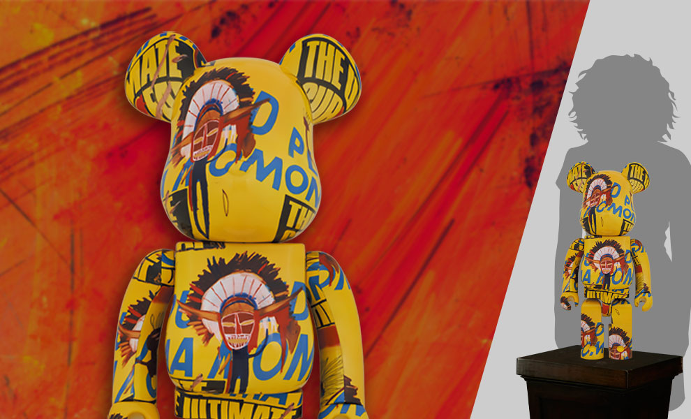 Gallery Feature Image of Be@rbrick Andy Warhol x Jean-Michel Basquiat #3 1000% Bearbrick - Click to open image gallery