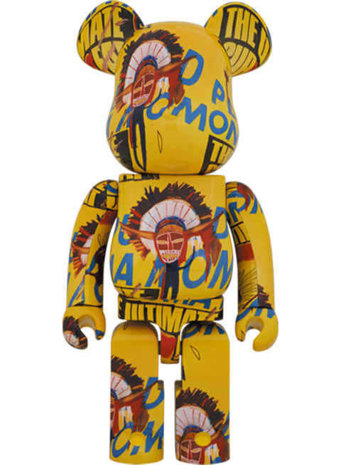 Medicom Toy Be@rbrick Andy Warhol x Jean-Michel Basquiat #3 1000% Bearbrick