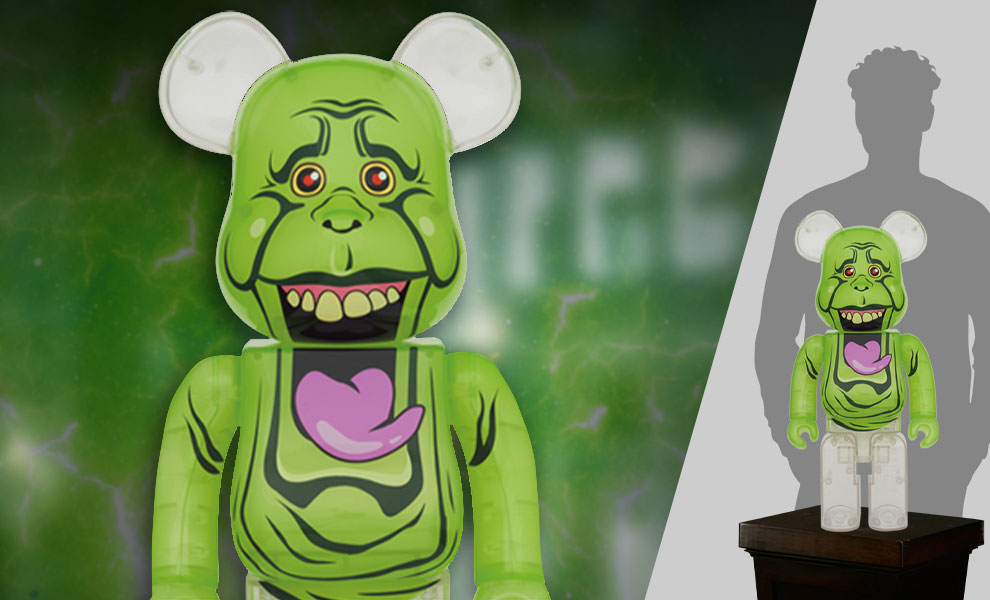 Gallery Feature Image of Be@rbrick Slimer (Green Ghost) 1000% Bearbrick - Click to open image gallery