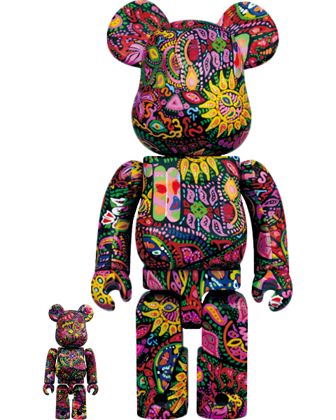 Medicom Toy Be@rbrick Psychedelic Paisley 100% & 400% Collectible Set