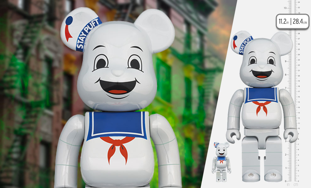 Gallery Feature Image of Be@rbrick Stay Puft Marshmallow Man (White Chrome Version) 100% & 400% Bearbrick - Click to open image gallery