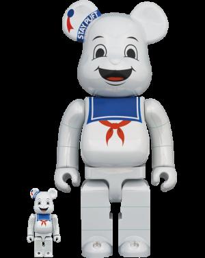 Be@rbrick Stay Puft Marshmallow Man (White Chrome Version) 100% & 400% Bearbrick