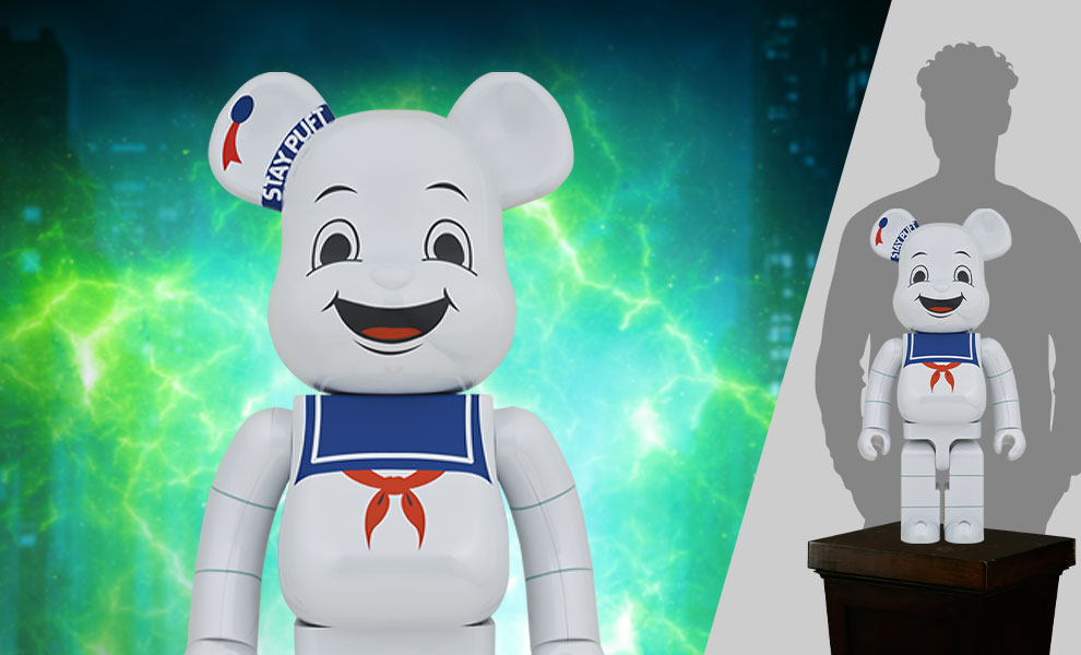 Gallery Feature Image of Be@rbrick Stay Puft Marshmallow Man (White Chrome Version) 1000% Bearbrick - Click to open image gallery