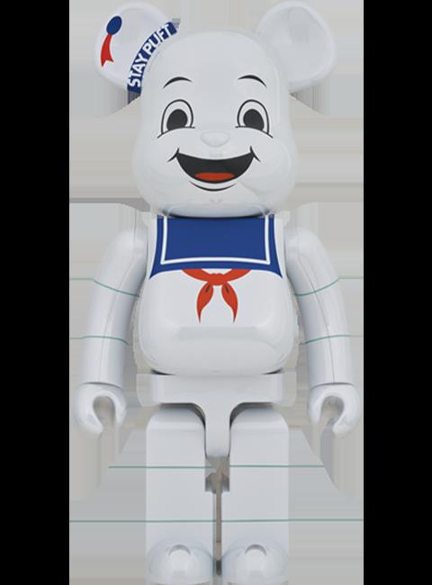 Medicom Toy Be@rbrick Stay Puft Marshmallow Man (White Chrome Version) 1000% Bearbrick