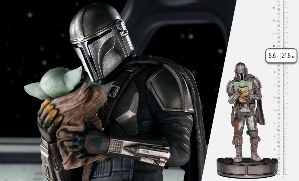 Gallery Feature Image of The Mandalorian and Grogu 1:10 Scale Statue - Click to open image gallery
