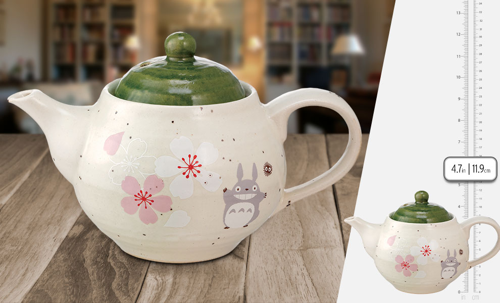 Gallery Feature Image of My Neighbor Totoro Sakura (Cherry Blossom) Teapot Kitchenware - Click to open image gallery
