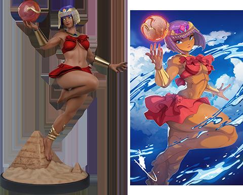 PCS Menat: Player 2 Statue