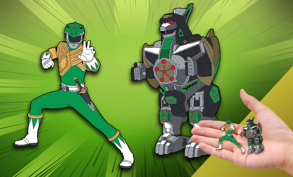 Gallery Feature Image of Green Ranger x Dragonzord Pin Set Collectible Pin - Click to open image gallery