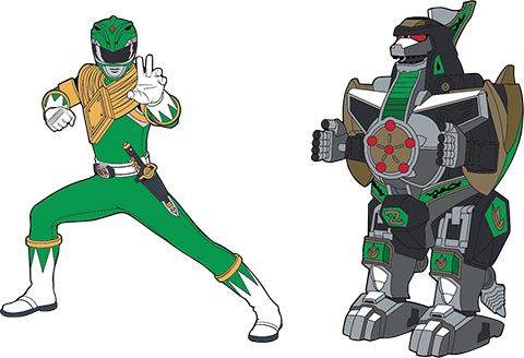 Icon Heroes Green Ranger x Dragonzord Pin Set Collectible Pin
