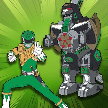 Green Ranger x Dragonzord Pin Set Collectible Pin