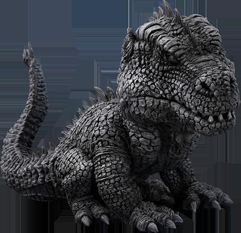 X-Plus Rhedosaurus Black and White Version Collectible Figure