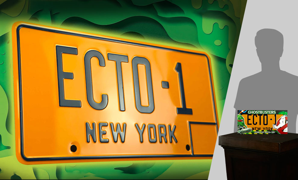 Gallery Feature Image of Ghostbusters ECTO-1 License Plate Replica - Click to open image gallery