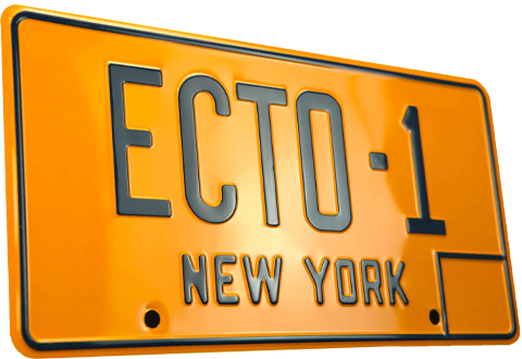 Doctor Collector Ghostbusters ECTO-1 License Plate Replica
