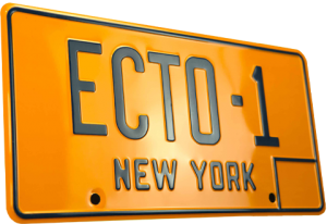 Ghostbusters ECTO-1 License Plate Replica