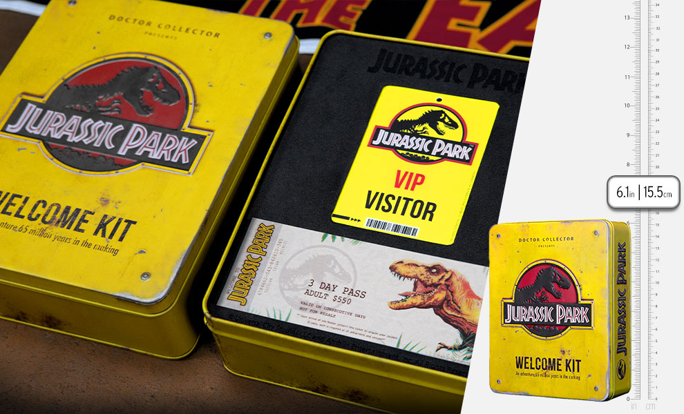 Gallery Feature Image of Jurassic Park Welcome Kit (Standard Edition) Collectible Set - Click to open image gallery
