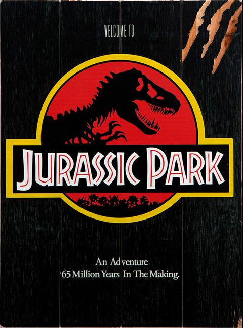"""Doctor Collector Jurassic Park WOODART 3D """"1993 Art"""" Wood Wall Art"""