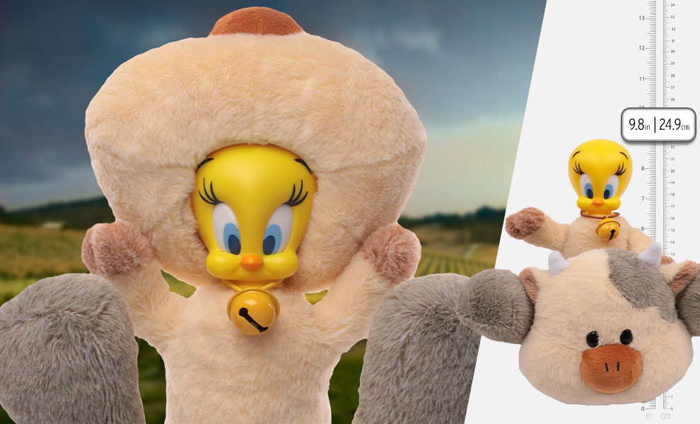 Gallery Feature Image of Tweety Dairy Cow Plush Collectible Figure - Click to open image gallery