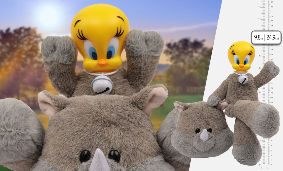 Gallery Feature Image of Tweety Rhino Cow Plush Collectible Figure - Click to open image gallery